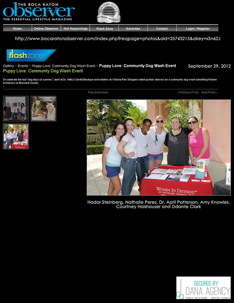 Dr. Patty on BocaRatonObserver.com, September 29, 2012