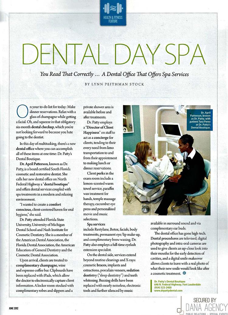 Dr. Patty in Go Riverwalk Magazine, June 2012