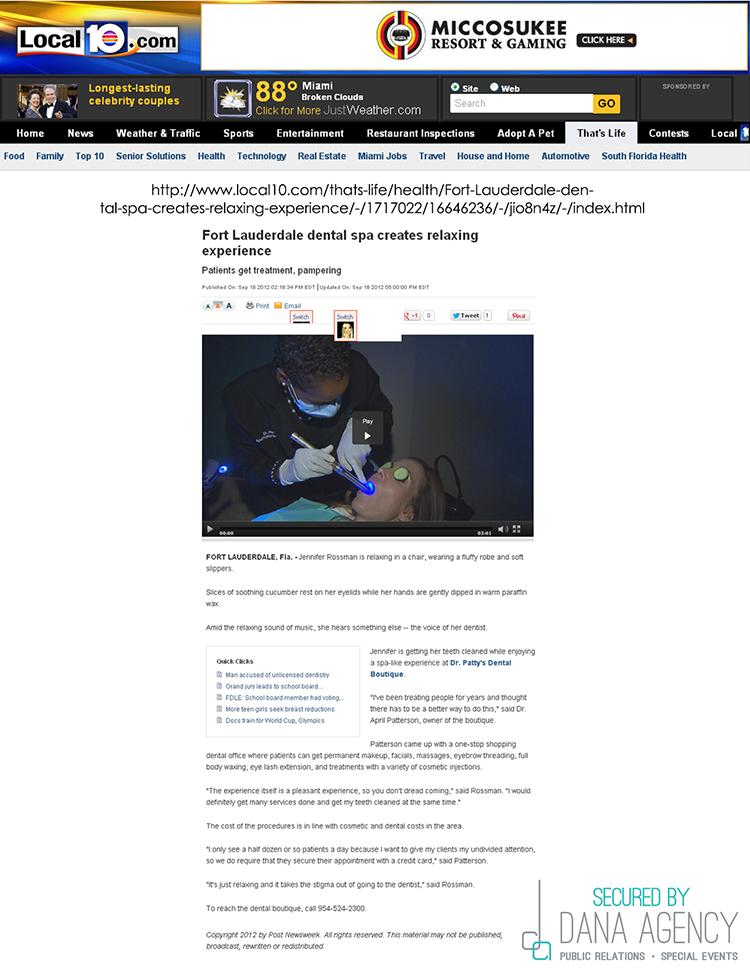 Dr. Patty on Local10.com, September 18, 2012